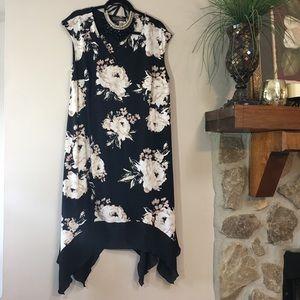 NWOT Sleeveless Black floral dress Plus size 3X